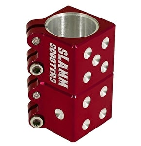 Slamm Stunt Scooter Clamp - Dice Red
