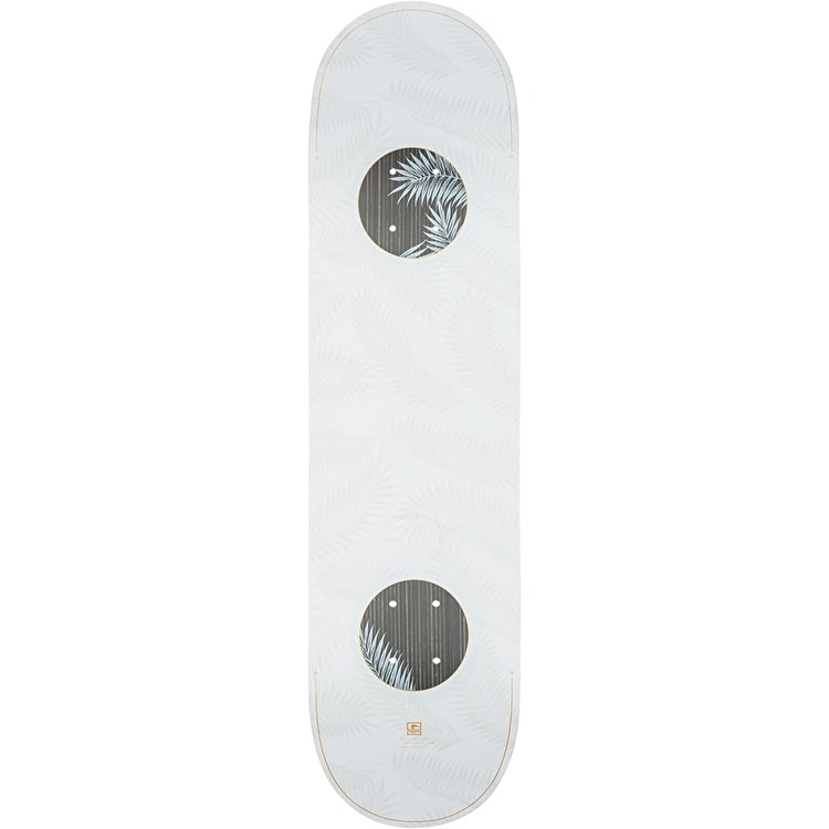 Globe G3 Emptiness Impact Plus Skateboard Deck - White/Feathers 8""