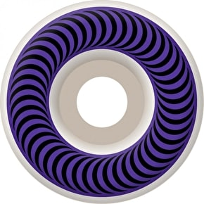 Spitfire Classic Skateboard Wheels - White/Purple 58mm
