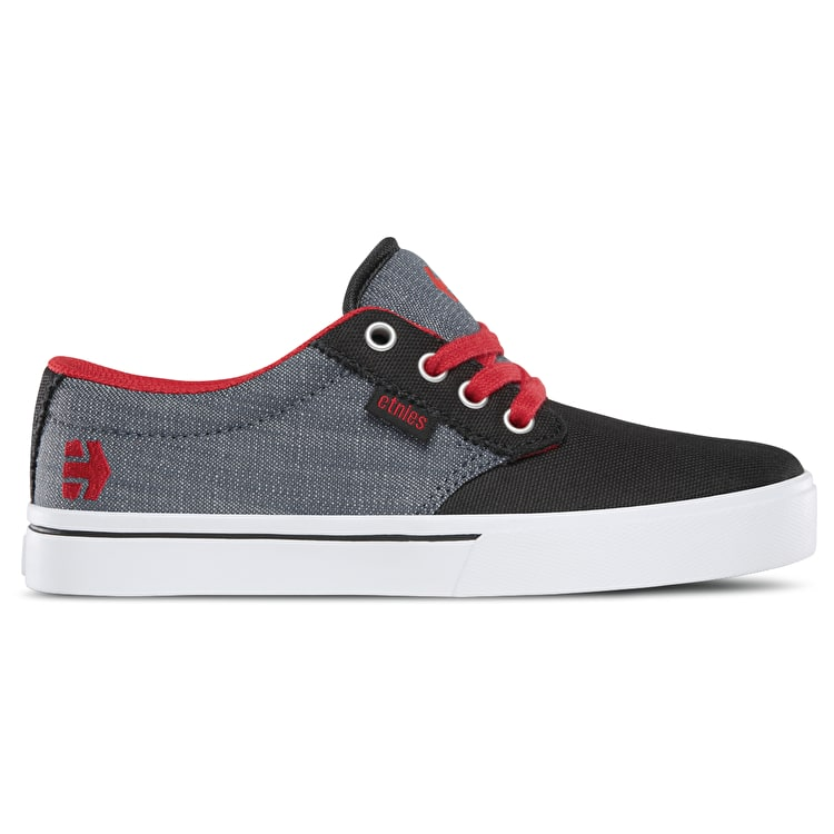 Etnies Jameson 2 Eco Kids Skate Shoes - Black/Red/Grey