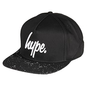 Hype Speckle Snapback Cap - Black/White