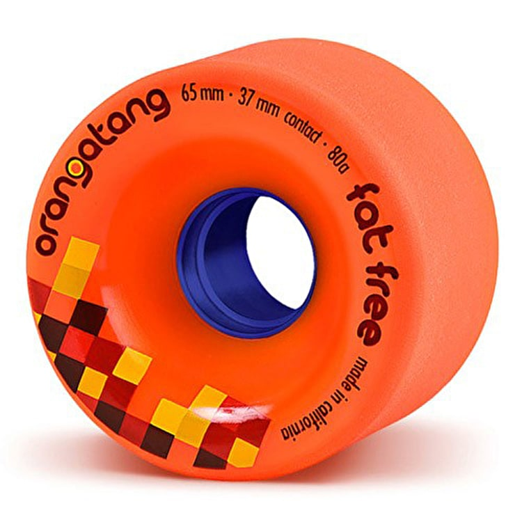 Orangatang Fat Free 65mm Longboard Wheels (Pack of 4)