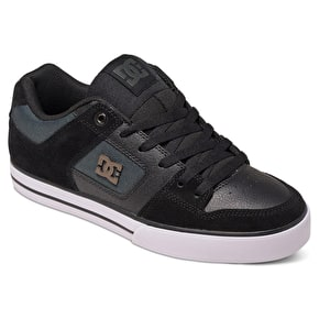 DC Pure Skate Shoes - Black/Dark Grey