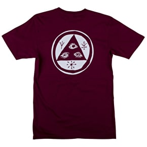 Welcome Talisman T-Shirt - Burgundy/White