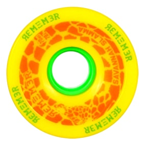 Remember Savannah 70mm Longboard Wheels - Lemon Drop Yellow
