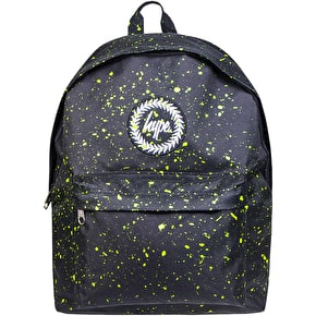 Hype Speckle Backpack - Black/Neon Green