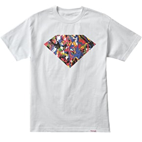 Diamond Painted Diamond T-Shirt - White