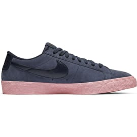 Nike SB Zoom Blazer Low Skate Shoes - Obsidian/Obsidian-Bubblegum
