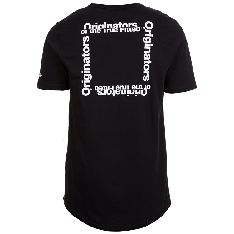 New Era Originators Square Logo T shirt - Black