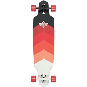 Dusters Drop-Through Longboard - Wake Kryptonics Red 38
