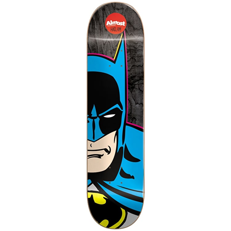 Almost Skateboard Deck - Batman Split Face R7 Haslam 8.375""