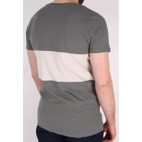 Hype Script Panel T-Shirt - Grey/Grey