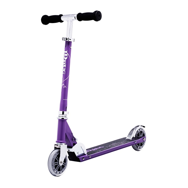 JD Bug Classic Street 120 Folding Scooter - Matt Purple