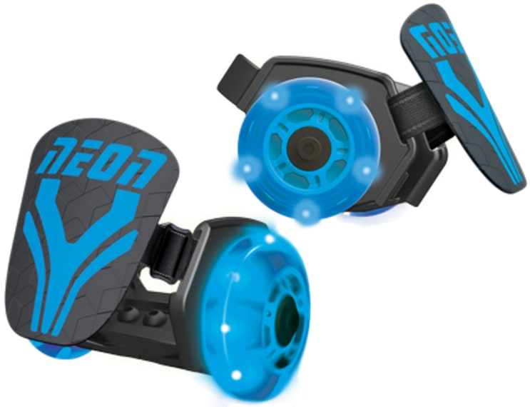 Neon Light Up Street Rollers  Blue