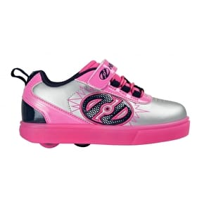 Heelys X2 POW Lighted - Silver/Pink/Navy