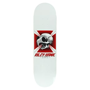 Baker Hawk Tribute Skateboard Deck - White 8.25