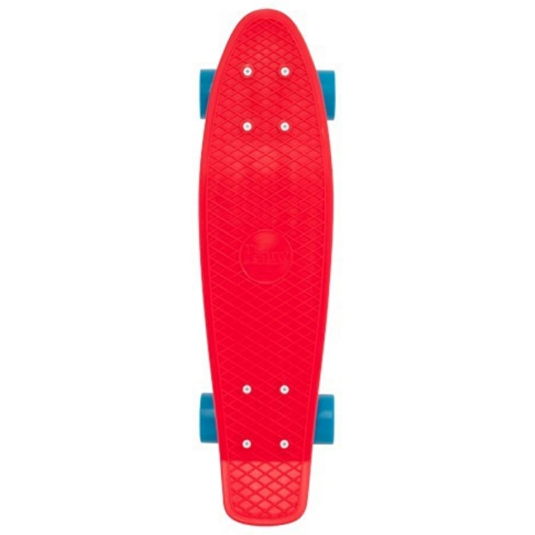 Penny Complete Skateboard - Red / Blue 22""