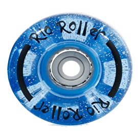 Rio Roller Light Up Quad Roller Skate 54mm Wheels - Blue Glitter
