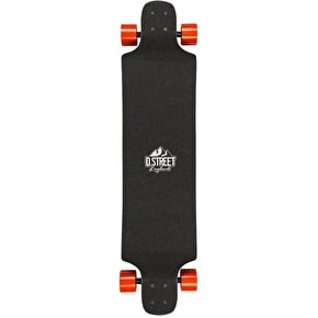 D-Street Bear Drop-Down Complete Longboard - Red 40
