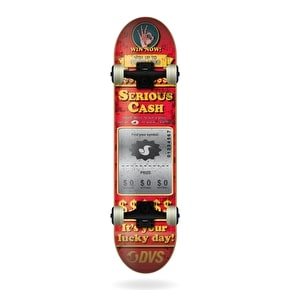 DVS Complete Skateboard - Serious Cash - Red - 7.75