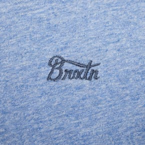 Brixton Potrero III Short Sleeved Premium T-Shirt - Heather Blue/Washed Navy