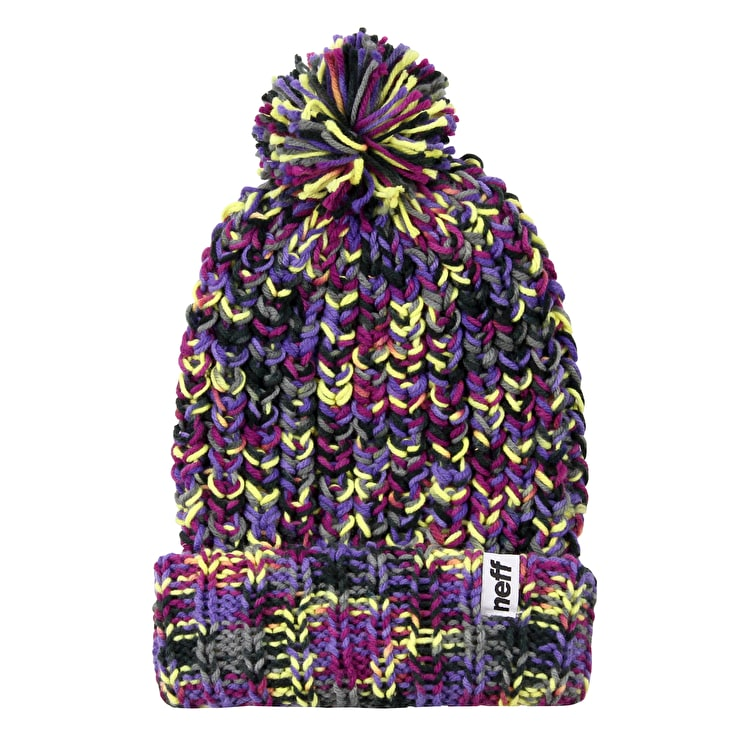 Neff Space Womens Beanie - Purple/Blue