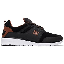 DC Heathrow Prestige Skate Shoes - Black/Brown/White