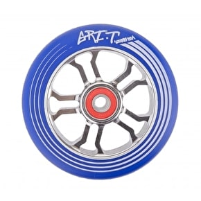Grit Ultra Light 100mm Scooter Wheel x 1 w/ABEC 9 Bearings - Blue/Titanium