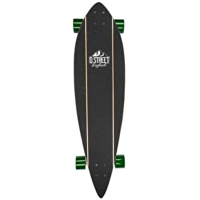D-Street Pintail Rascal Complete Longboard - Natural/Rasta 38