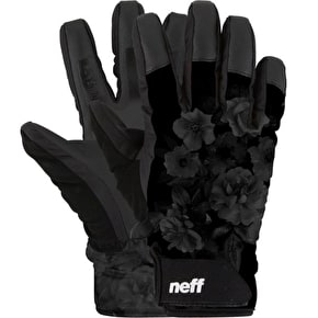 Neff Digger Womens Gloves - Black/Floral