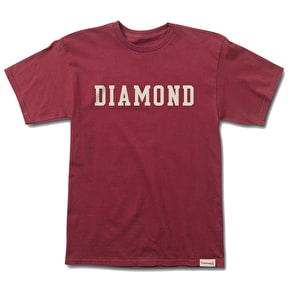 Diamond Block T-Shirt - Burgundy