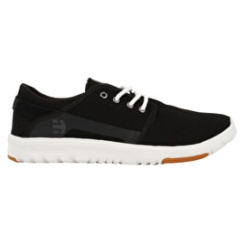 Etnies Scout Skate Shoes - Black/White/Silver