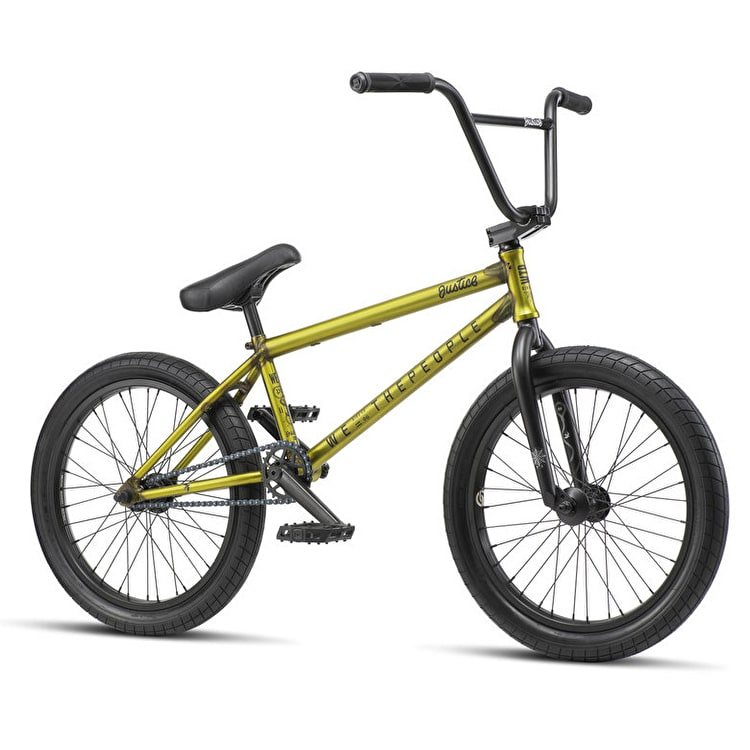 """WeThePeople Justice 20.75"""" Complete BMX - Matte Translucent Yellow"""