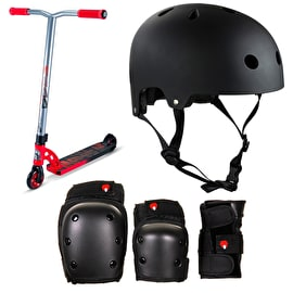 MGP VX7 Pro Red/Black Stunt Scooter Bundle