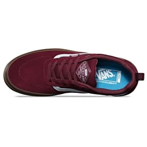 Vans Kyle Walker Pro Skate Shoes - Burgundy/White/Gum