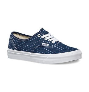 Vans Authentic Slim Shoes - (Micro Hearts) Dress Blues