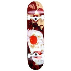 Skatehut Custom Skateboard - Bacon & Eggs - 8.0