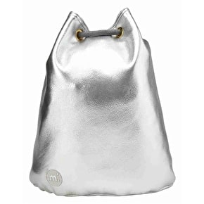Mi-Pac Tumbled Drawstring Swing Bag - Metallic Silver