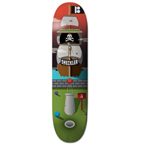 Plan B Skateboard Deck - Hole In One Pirate Ship Sheckler 8.25