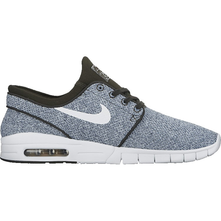 Nike SB Stefan Janoski Max Skate Shoes - Sequoia/White