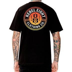 Rebel8 Sun Burnt T-Shirt - Black
