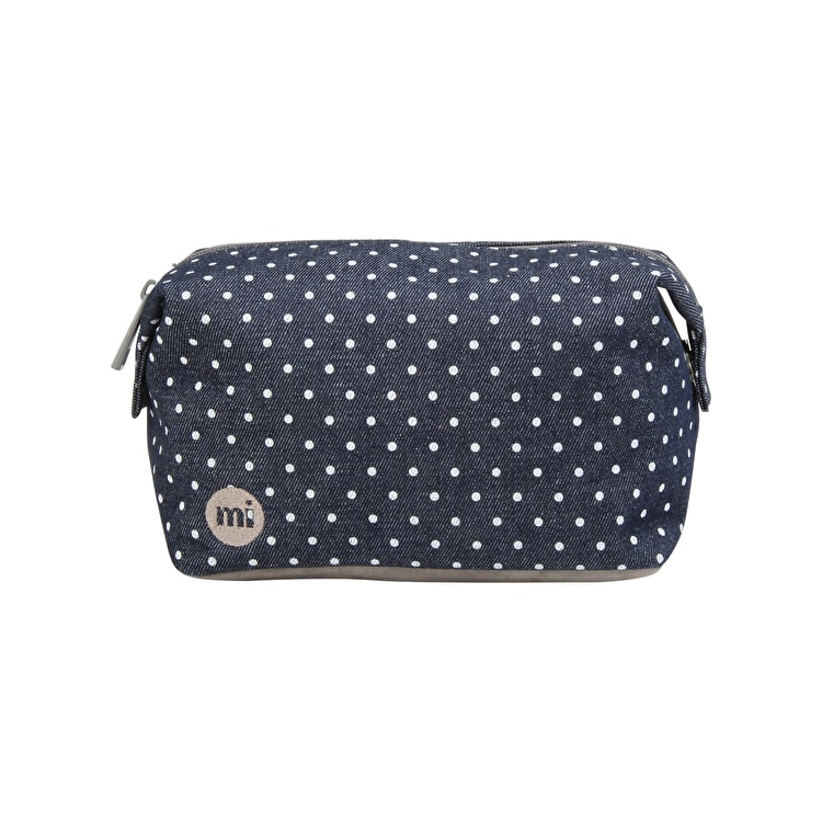 Mi-Pac Denim Spot Wash Bag - Indigo/White