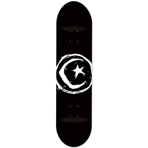 Foundation Star & Moon Skateboard Deck - Black 8.375