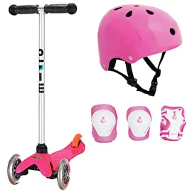 Mini Micro T-Bar Scooter Bundle - Pink