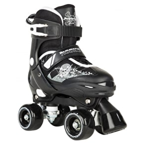 Rookie Kids' Adjustable Quad Skates Pulse Black/White - UK 3-6 (B-Stock)