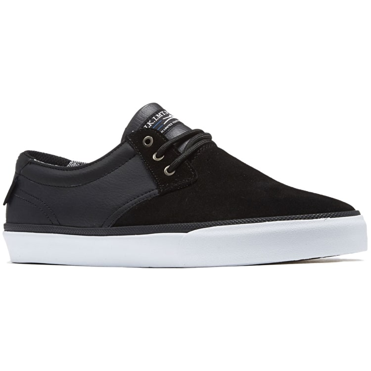 Lakai Daly Skate Shoes - Black Suede/Black Leather