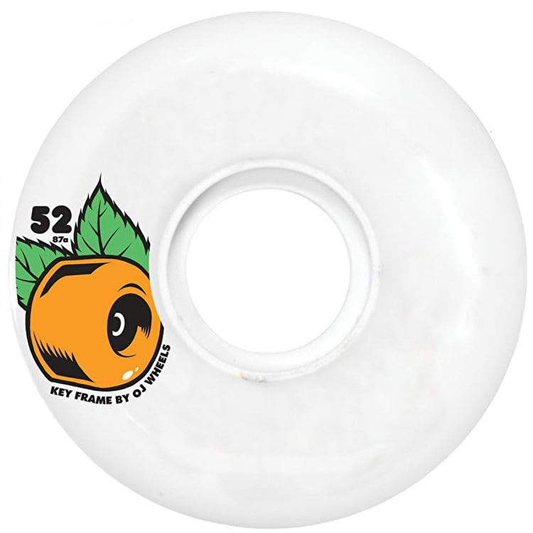 OJ Wheels Keyframe 87A Plain Jane Skateboard Wheels - White 52mm
