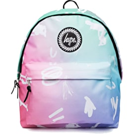 Hype Rainbow Scribble Backpack - Pink/Blue