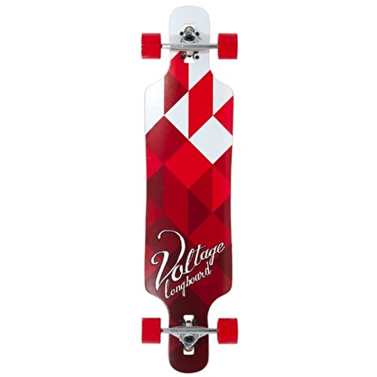 Voltage Drop Through Complete Longboard - White/Red 39""