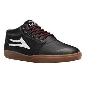 Lakai Griffin Mid XLK Skate Shoes - Black/Gum